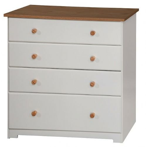 Corby White 4 Drawer Chest